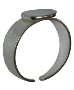 Sterling Silver Flat Pad Ring